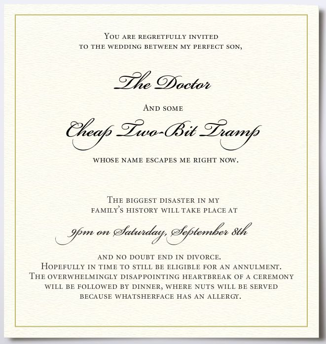 ... home humour visual jokes wedding invitation wedding invitation