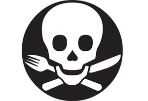 Food poison logo