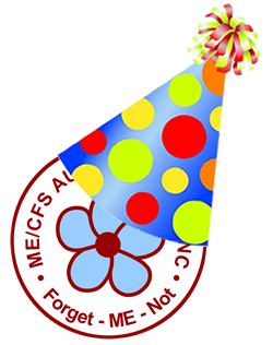 ME/CFS Australia (SA) Inc logo (with party hat)