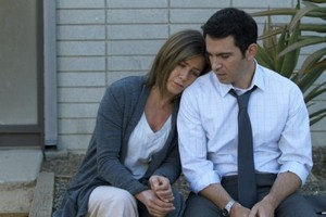 Jennifer Aniston and Chris Messina in Cake