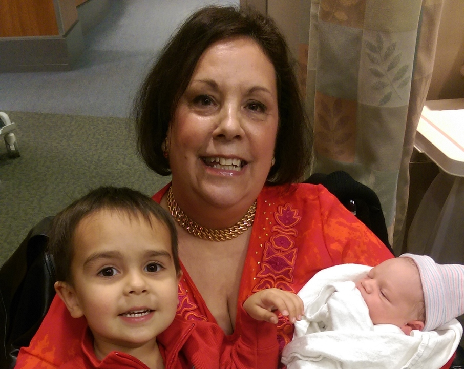 Michele and two grandsons