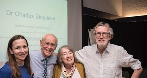 left to right, Dr Nina Muirhead, BillKent, Janice Kent and Dr Charles Shepherd