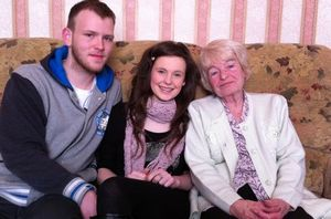 Charly Poole with boyfriend Matty Warrington and grandmother Joan Poole